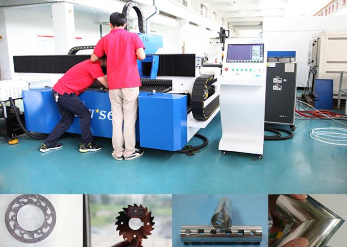 1kw Cnc Steel Pipe Cutting Machine For Metal Tube / Plate Carbon Steel , High Speed