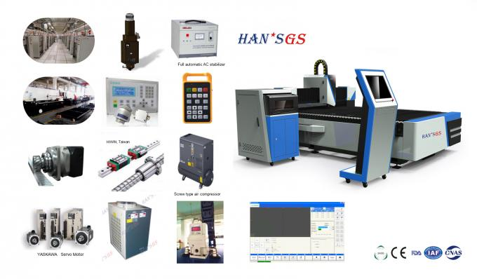 Hans Gs 500w To 3000w Fiber Laser Metal Cutting Machines Water Cooling