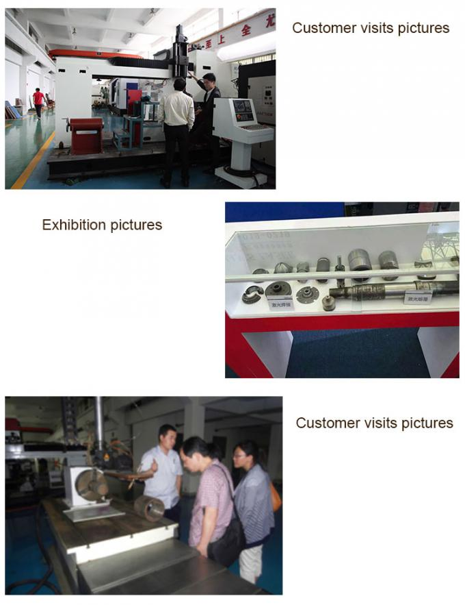 Extension axis laser repair, repair of steel parts, axis roller laser repair, HANS GS laser cladding equipment manufacturer