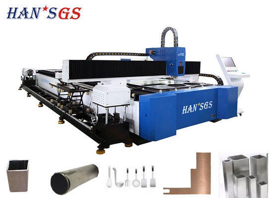 China Fiber Tube Metal Laser Cutting Machine , Dual Use Sheet Metal Pipe Cutter supplier