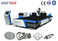 1000W / 1500W / 2000W Metal Fiber Laser Cutting Machine 1000W With Sevor Motor