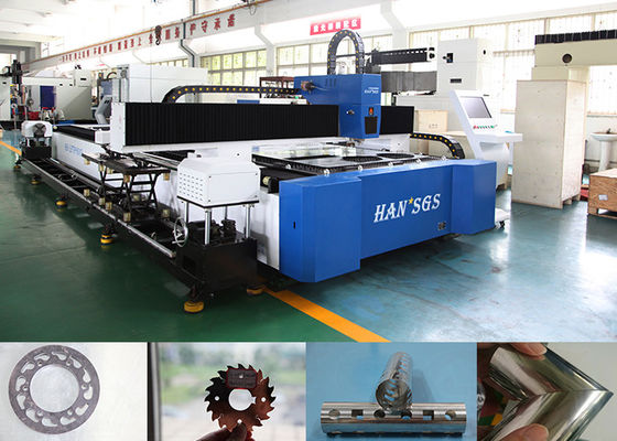 China 1kw Cnc Steel Pipe Cutting Machine For Metal Tube / Plate Carbon Steel , High Speed distributor