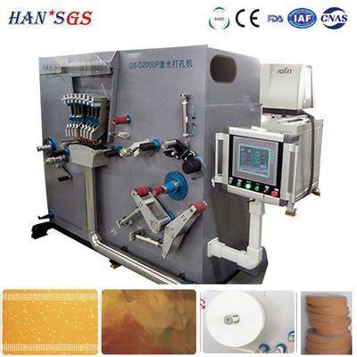 China High Speed Laser Perforating Machine , Sheet Perforation Machine Siemens Servo distributor